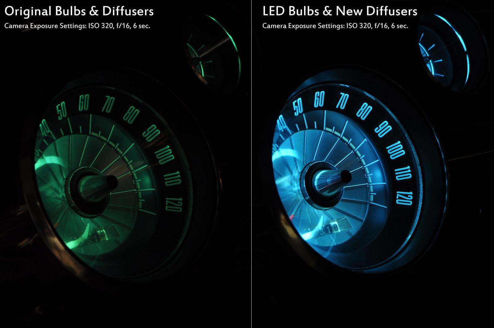 LED Dash Light Kits - installed pics - Classic Cougar Community