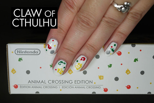 Animal Crossing: New Leaf Nintendo 3DS XL Bundle Inspired Nail Art