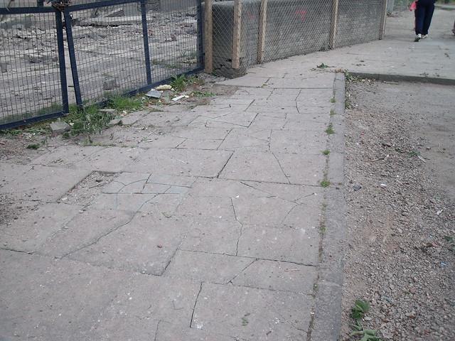 Derby Street after demolition