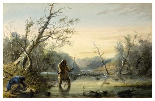 020-Tramperos cazando castores-Alfred Jacob Miller-1858-1860-Walters Art Museum