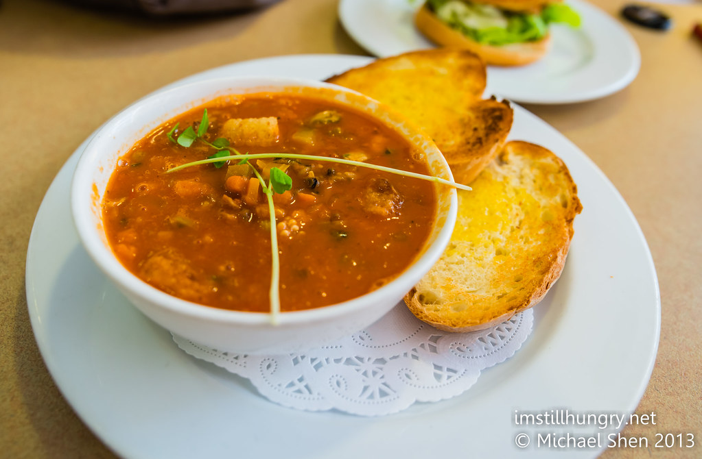 Benz on York Soup of the Day - minestrone