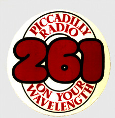 Piccadilly Radio car sticker 1973