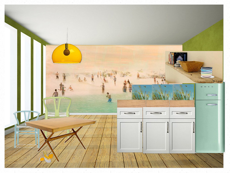 Pastel Beach Kitchen