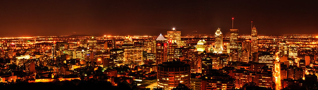 Montreal Downtown Panorama from Mont-Royal