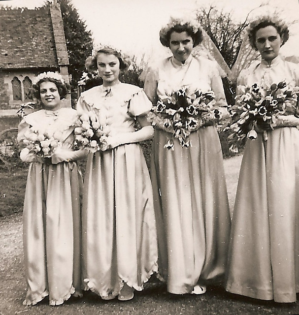 Pamela Barber's bridesmaids