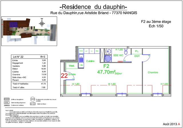 Résidence du Dauphin - Plan de vente - Lot n°22