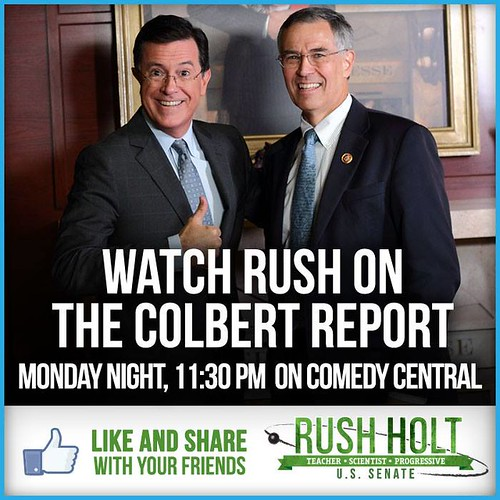 Rush Holt on The Colbert Report