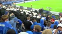 FC Schalke 04 - PAOK Saloniki: Screenshot aus einem Video der Ultras GE