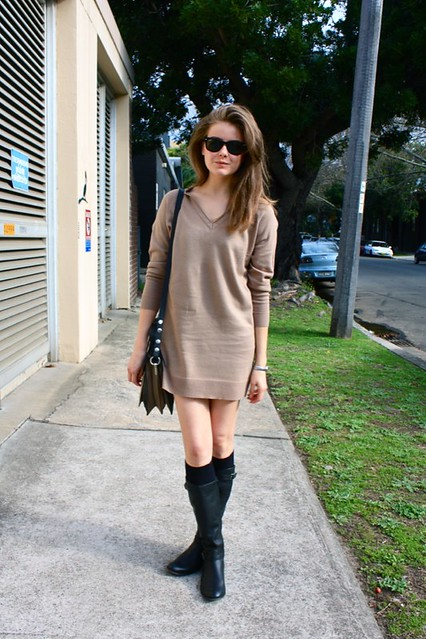sweater dress a