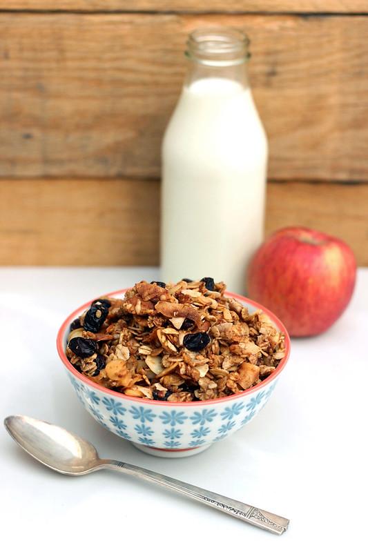 Apple Spice Granola (Gluten-free+ Vegan)