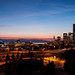Sunset Seattle Skyline by Ania César Winiarek