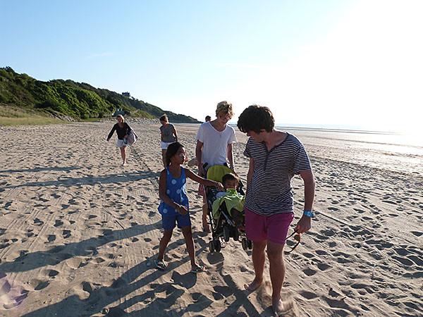 retour de la plage