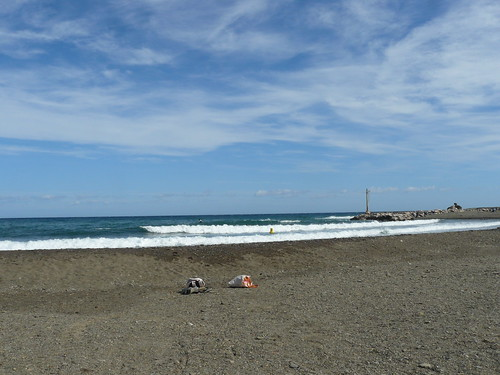 le coin des surfeurs: le débouché de la Baillaurie