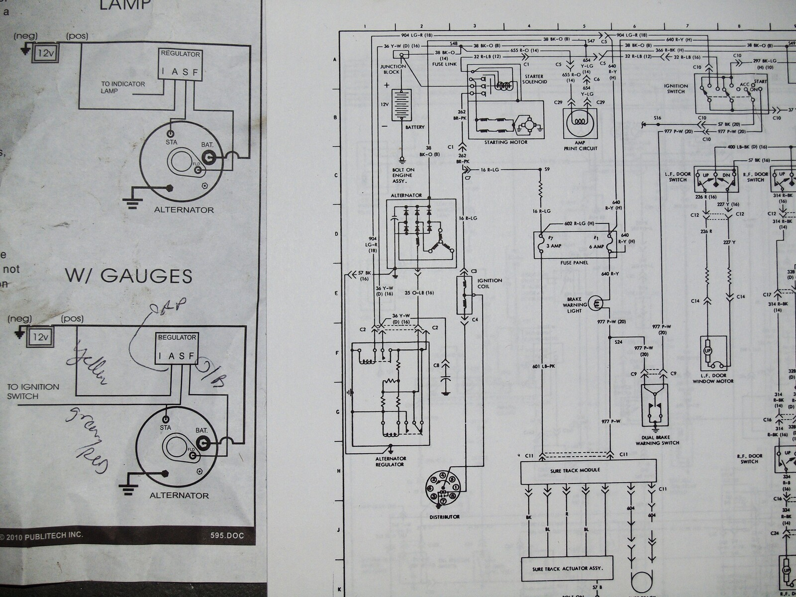 no charging (with amp gauge) 460 ford forum Mercury Capri Wiring Diagram i appreciate it