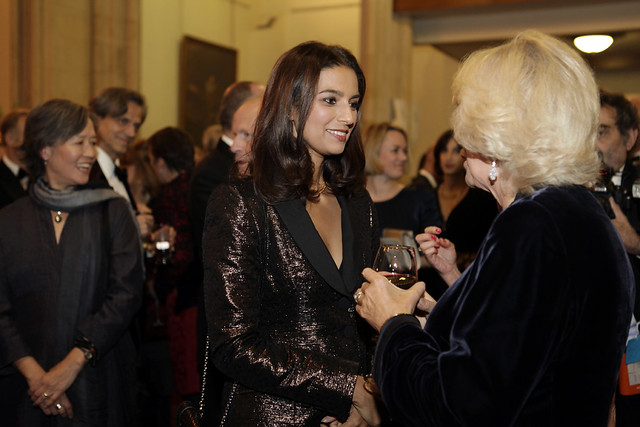 HRH The Duchess of Cornwall meets 2013 shortlisted author Jhumpa Lahiri 2 - c Janie Airey