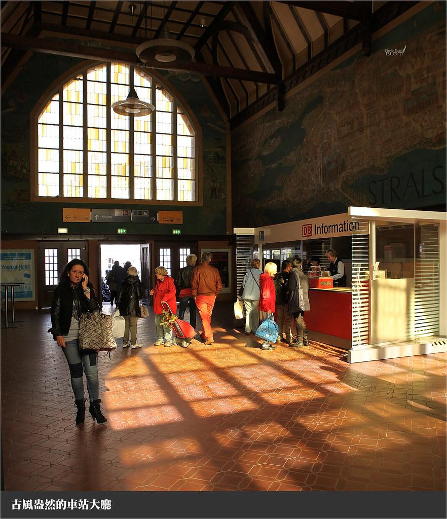 古風盎然的車站大廳
