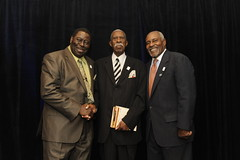 James Owens, Harold Franklin and Thom Gossom Jr. kick off the university's yearlong commemoration of 50 years of integration at Auburn.