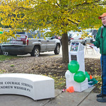 13-111 -- A specially created bench honoring the memory of former Illinois Wesleyan football player Andrew Weishar, near the east entrance to Tucci Stadium, was dedicated prior to the game against North Central on Nov. 2. Weishar died of cancer in 2012.