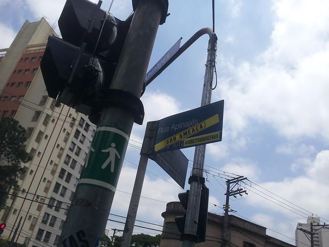 Intervenção artística na rua Apinajés - #DireitosIndígenas