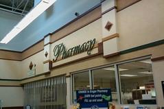 Pharmacy in front northwest corner