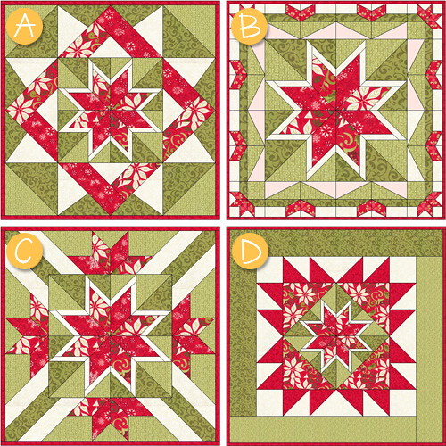 Christmas Star Block_variations