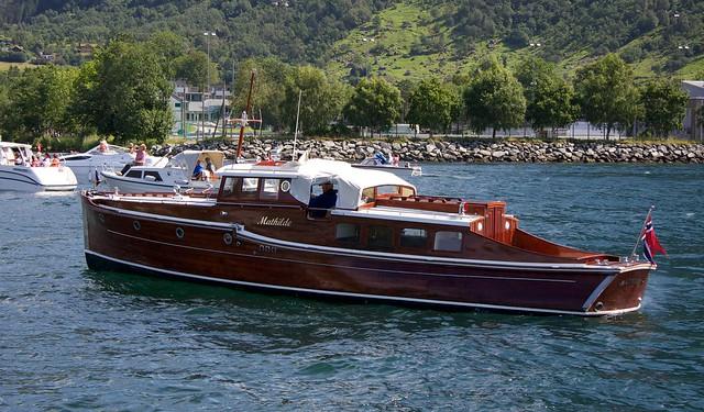 Classic motor boat «Mathilde»