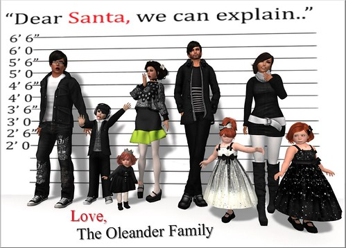 The Oleander Family Christmas Picture 2013