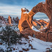 Double O Arch Snowy Sunset by ArchesNPS