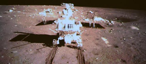 The People's Republic of China's Chang'e-3 spaceship on the moon. The mission is a major achievement for the socialist state. by Pan-African News Wire File Photos