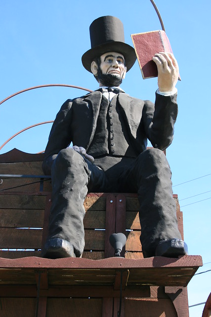 Abraham Lincoln on the World's Largest Covered Wagon - a roadside attraction in Lincoln, Illinois