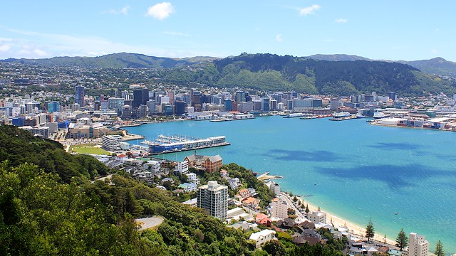 Wellington as seen from Mt Vic