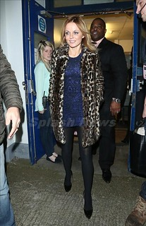 Geri Halliwell Leopard Print Coat Celebrity Style Women's Fashion