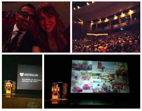 Twitter images from The Cola Road Screening at Waterloo University 16-Jan-14