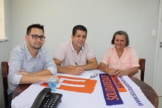 Professora Nilva visita o Solidariedade-SP