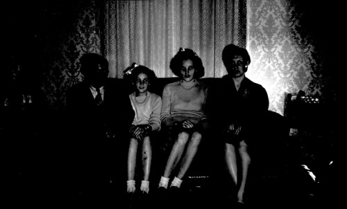 Four people in the dark