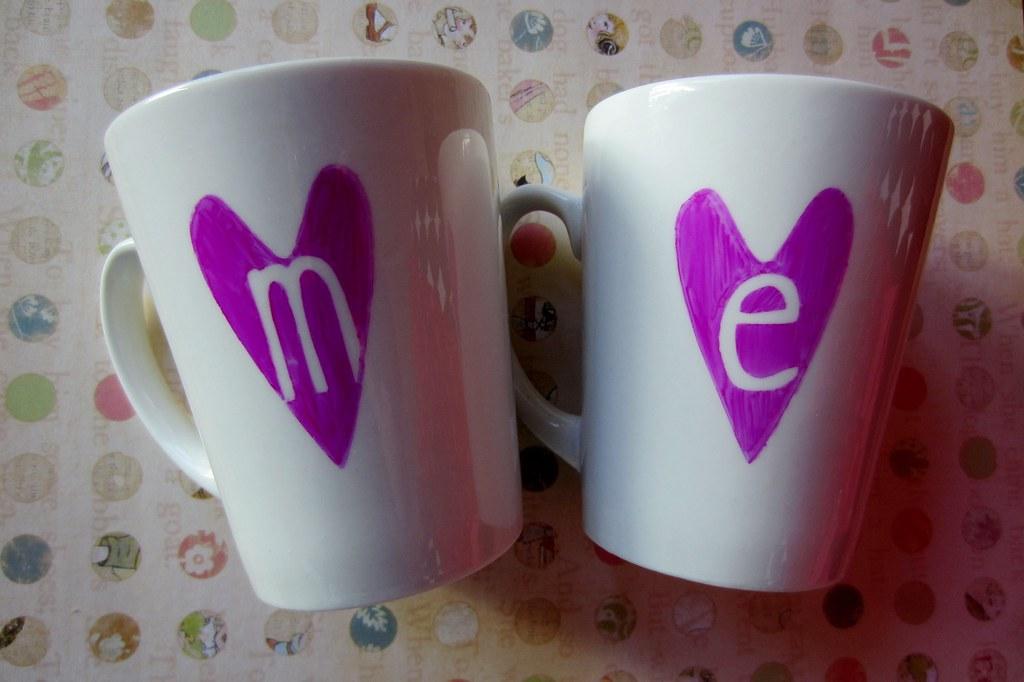 valentine's sharpie mug DIY