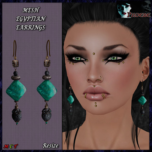 [PROMO!] *P* Egyptian Jade MESH Earrings