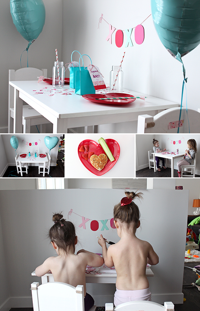 Valentine's Day Craft Kids Table