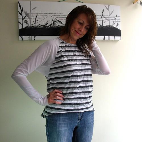 Hi Lo Stripe Raglan