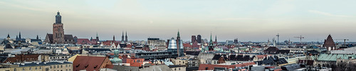 sunset panorama moon skyline architecture nikon spires towers poland polska historic nikkor oldtown wroclaw wrocław breslau architektura historicarchitecture panoramicphoto breslavia architecturephotos nikond7000 panoramawrocławia historicskyline