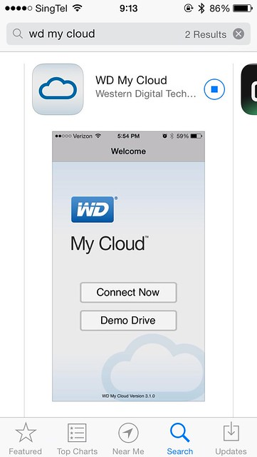WD My Cloud iOS App - App Store