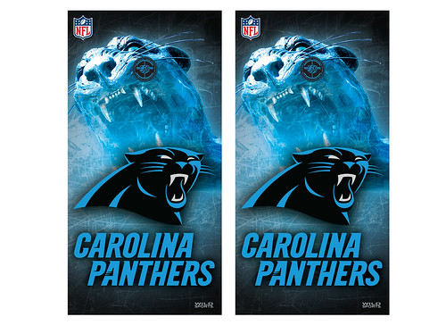 Carolina Panthers Cornhole Game Decal Set