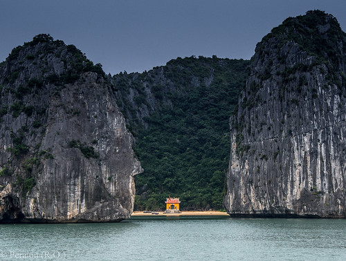Tucked away among rocks, Halong Bay, Vietnam (Thank you for the over 53,000 views!)