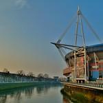 Millennium Stadium & River Taff, Cardiff
