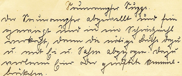 Rezept Sauerampfer Sauerampfersuppe Getrudes Kochbuch 1917 handgeschrieben Kurrentschrift deutsche Schrift alt