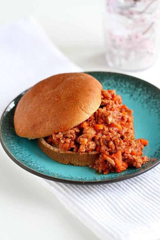 Healthy Turkey Sloppy Joe Recipe | cookincanuck.com #recipe