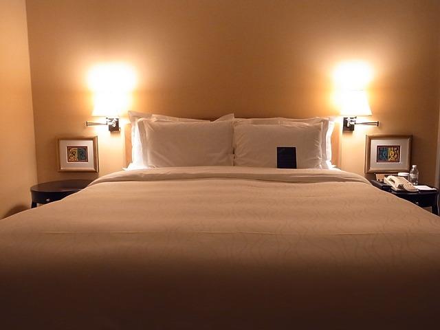 <p>ベッドも寝やすい</p>