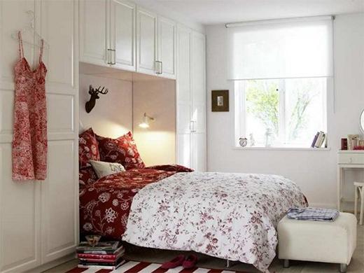 vintage, floral, room idea, small room, apartment