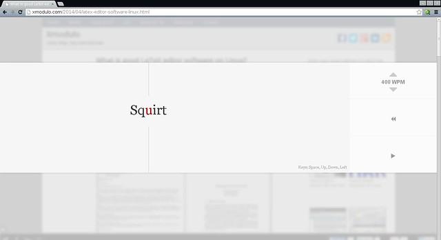Squirt — web-реализация технологии быстрого чтения Spritz