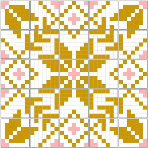 Fair Isle quilt mosaic
